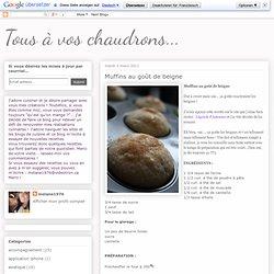 Tous à vos chaudrons...: Muffins au goût de beigne