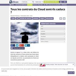 Tous les contrats du Cloud sont-ils caducs ?