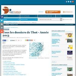 Tous les dossiers de Thot - Année 2013