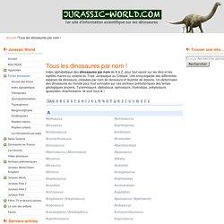 Tous les dinosaures par nom !