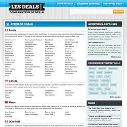 Tous les sites de deals par pays