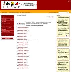 Tous les sites académiques - ADEAF