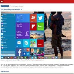Tout ce qui change dans Windows 10- m.01net.com