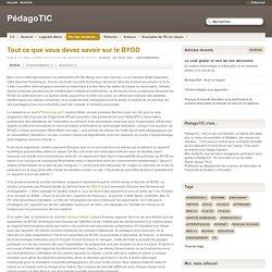 Tout ce que vous devez savoir sur le BYOD - PédagoTIC