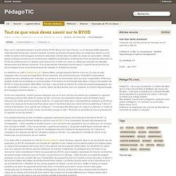 Tout ce que vous devez savoir sur le BYOD