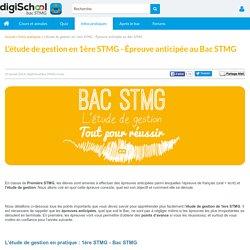 Tout sur l'étude de gestion au Bac STMG