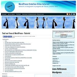 Tout sur Free et Wordpress - Tutoriel