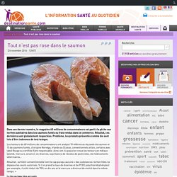 L INDEPENDANT 24/11/16 Tout n'est pas rose dans le saumon