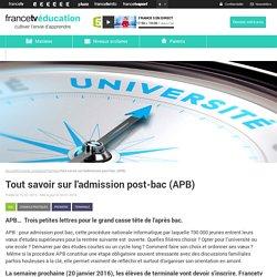 Tout savoir sur l'admission post-bac (APB)
