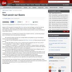 Tout savoir sur Quora