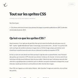 Tout sur les sprites CSS