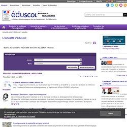 Toute l'actualité du site Éduscol