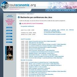 Bibliothèque virtuelle : recherche par conférence
