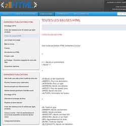 ALL HTML - Toutes les balises HTML