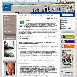 Aviva / Toutes les fondations / Fonds et fondations sous égide / La Fondation de France