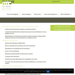 Toutes nos formations - Le PATIO Formation