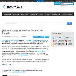 [Eté 2012] Toutes les levées de fonds du web français
