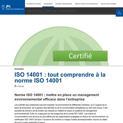 La norme ISO 14001, toutes les informations à savoir