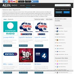 Toutes les radios : Royaume-Uni