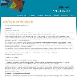 Toutes les newsletters - Art et Santé