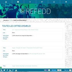 TOUTES LES OFFRES D'EMPLOI - REFEDD