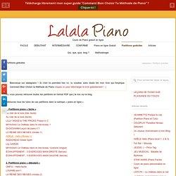 Toutes Les Partitions Du Blog Lalala Piano