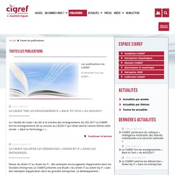 CIGREF Publications