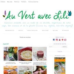 Toutes les recettes - Au Vert avec Lili