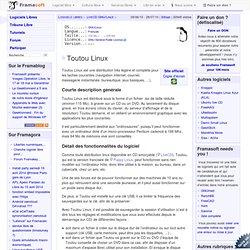 Toutou Linux - LiveCD GNU/Linux