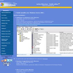 Active Directory - Outils