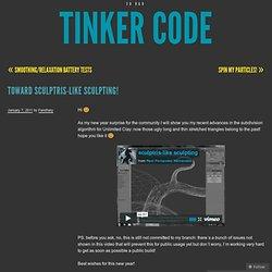 Vers sculptris-comme la sculpture!Code Tinker «