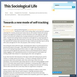 Towards a new mode of self-tracking
