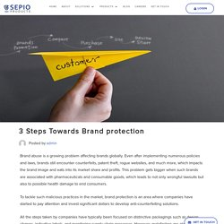 3 Steps Towards Brand protection - Sepio Products