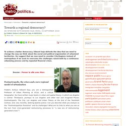 Towards a regional democracy?