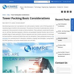 Tower Packing Basic Considerations