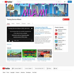 Towing Service Miami - YouTube