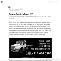 Towing Services Bronx NY