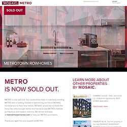 Burnaby Townhomes: Metrotown Townhouses in Burnaby - METRO BY MOSAIC