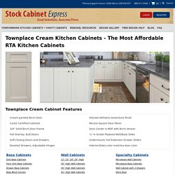 Townplace Cream Kitchen Cabinets