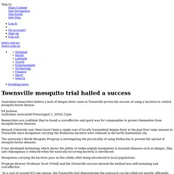 Townsville mosquito trial hailed a success