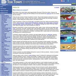 Tox Town - Indoor Air - Text Version