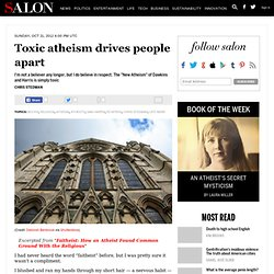 Toxic atheism drives people apart