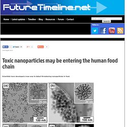 Toxic nanoparticles may be entering human food chain