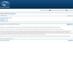 PARLEMENT EUROPEEN - Réponse à question E-002338-16 Toxic soil problem in Romania