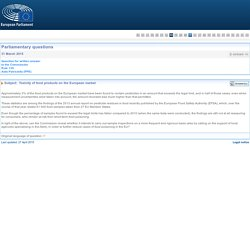 PARLEMENT EUROPEEN - Réponse à question E-005065-15 Toxicity of food products on the European market