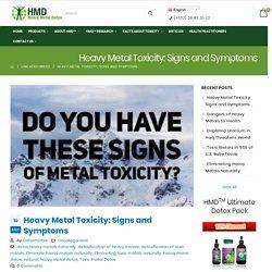 Heavy Metal Toxicity: Signs and Symptoms - Detoxmetals