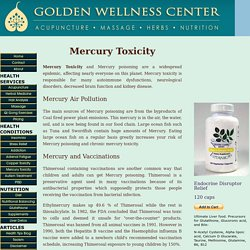 Mercury Toxicity Symptoms of Mercury Poisoning
