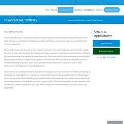 Heavy Metal Toxicity Treatment Center in Charleston SC