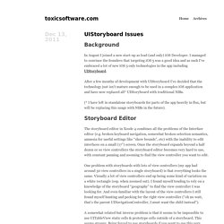 toxicsoftware.com · UIStoryboard Issues