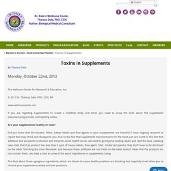 Toxins in Supplements